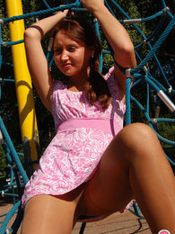 Cutie knowing how to show her legs in soft pantyhose to the best advantage pictures at kilopics.net