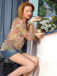 Steaming hot smoker in flesh-colored pantyhose getting naughty like hell pictures at dailyadult.info