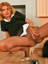 Steamy maid in nylon pantyhose burning from desire while vacuuming a room pictures at kilopills.com