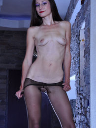 Dressed to kill babe boasting gorgeous barely black pantyhose on long legs pictures at find-best-ass.com