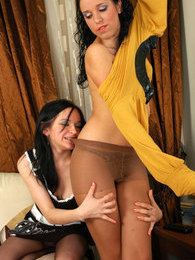 Just from the shower raunchy lesbian gals fit on luxury hosiery for petting pictures at lingerie-mania.com