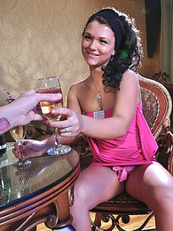 Dark-haired cuties drink Bruderschaft before some tongue job and fingering pictures at freekiloporn.com