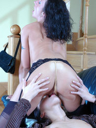Freaky sappho gives a cutie new sensations burying her face into her pussy pictures at find-best-panties.com
