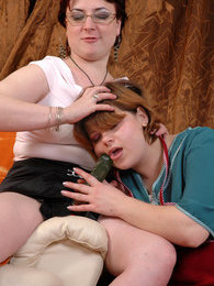 Chubby lez mistress uses off-duty hours for a strap-on fun with a sexy maid pictures at dailyadult.info