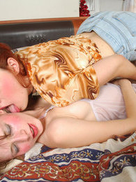 Sleepy babes licking and kissing their tempting snatches from early morning pictures at find-best-ass.com