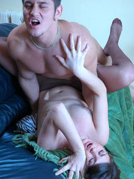 Heated gal gives a guy encouraging kisses begging for hardcore anal session pictures