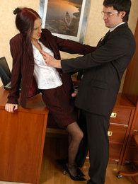 Outrageously hot secretary getting her yummy banghole ploughed close-up pictures at adipics.com