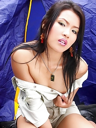 Aime Copony nude in the famous 88Square tent pictures