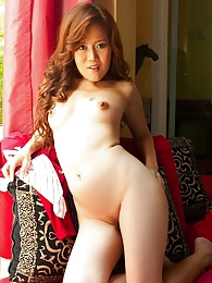 Curly haired cutie Hana Jungo gets naked pictures at sgirls.net