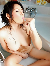 Rin Darin in the tub barin all pictures at find-best-lingerie.com