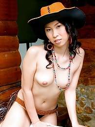 Olive Moon gets naked western style pictures at sgirls.net