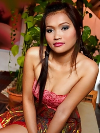 Bulma flips up her traditional Thai dress pictures at very-sexy.com