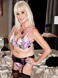 A new 60plus MILF named Leah pictures at freelingerie.us