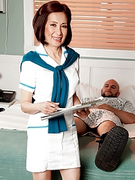 Nurse Kim Heals The Sick, Fucks The Giant Hard-on pictures at adspics.com