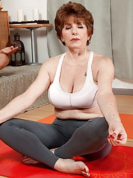 Bea Takes A Yoga Class pictures at lingerie-mania.com