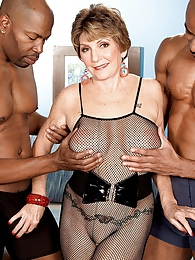 Two Big, Black Cocks For Bea Cummins pictures at lingerie-mania.com