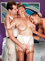 Bea Cummins Returns for A Threesome pictures at adipics.com
