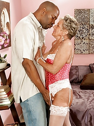 Big Black Cock For A 70something Milf pictures at lingerie-mania.com
