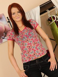 Perky redhead Amy Cord rubbing her sensitive clit pictures at freekilopics.com
