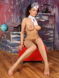 Busty flight attendant Lynette has another landing for you pictures at find-best-pussy.com