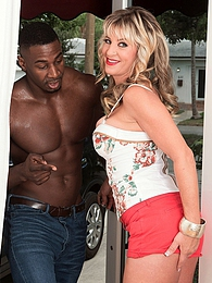 A big black cock for Brandi's ass pictures at lingerie-mania.com
