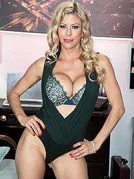 Alexis Fawx, busty secretary pictures at lingerie-mania.com