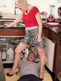 Kimber, the plumber and her cuckold hubby pictures at lingerie-mania.com