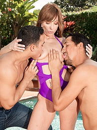 Brandi's Dp Pool Party pictures at kilovideos.com