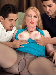Its Heathers First Time, And Shes Fucking Two Cocks pictures at adspics.com