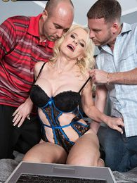 Nurse Cammille gets ass-fucked by two guys pictures at kilosex.com