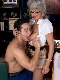 The Horny Boss Lady And The Cleaning Man pictures at sgirls.net