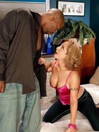Luna Azul Finally Fucks A Black Man pictures at lingerie-mania.com