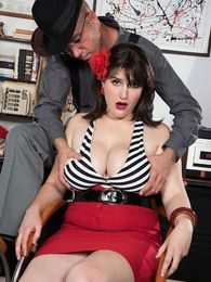A Private Dick For A Busty Mobster's Moll pictures at lingerie-mania.com