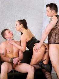 A slut and guy dominate other guy and make him pleasure them pictures