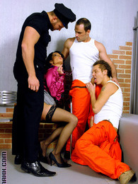 Fellows love fucking guys and girls in a prison hardcore pictures at sgirls.net