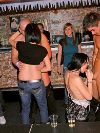 Pretty drunk willing babes fucked at the local sex club pictures at lingerie-mania.com