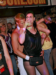 Sexy clothed girls going wild at a local shagging sex club pictures at find-best-hardcore.com