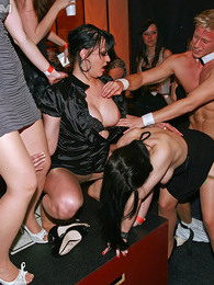 Drunk partygoers having outrageous sex inside of a publicbar pictures at lingerie-mania.com