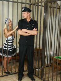 Blonde teen prisoner gets fucked well by handsome guard pictures
