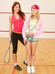 After playing tennis these lesbians play a whole other game pictures at lingerie-mania.com