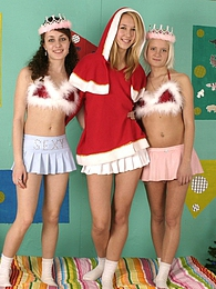 Merry Christmas top threesome sexy hot babes action times pictures