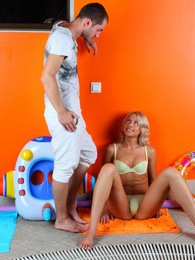 Cute blonde teen Ellen enjoys all the hot cum on her face pictures at kilotop.com