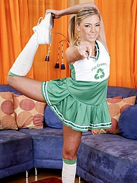 Blonde cheerleader Ally suck and fuck a large dick well pictures at freekilomovies.com