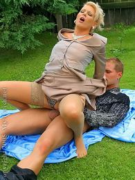 Outdoor silky fetish sucking and fucking couple action pictures