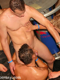 Plethora of gay men sucking cock and fucking at a party pictures at lingerie-mania.com