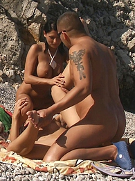 They turn this beach into a huge hot 'n wet orgy fuck fest! pictures at kilogirls.com