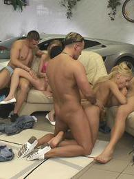 Having fun with friends turns into a wild orgy for her pictures at relaxxx.net