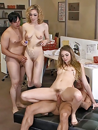 Two babes getting fucked by horny guys in group sex game pictures at dailyadult.info