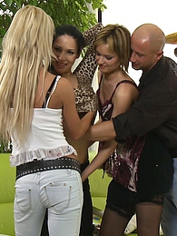 This game of Twister is giving them some really hot ideas pictures at nastyadult.info