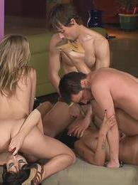 Amazing chicks gets fucked hard in hardcore group sex game pictures